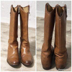 Frye Melissa Cognac Tall Leather Riding Boot Sz 7